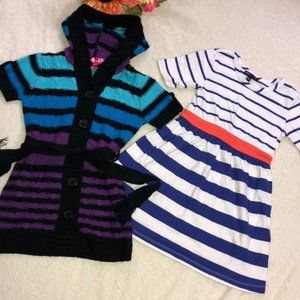 BUNDLE LOT girls dresses sweater hooded cardigan